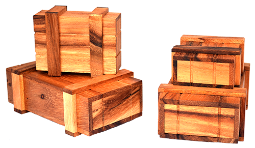 wooden secret gift or  money box samanea wood