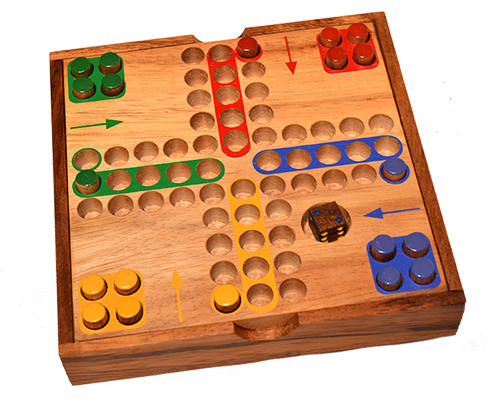 ludo dice game thai wooden games chiang mai thailand