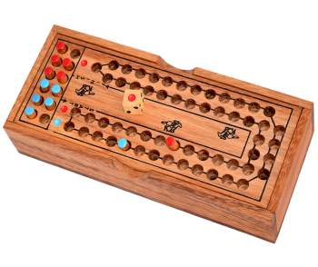 horse race game for 2 player samanea wooden dice game thai wooden games in size 20,4 x 8,4 x 3,7 cm