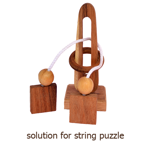 solution for string puzzle like lord of the ring