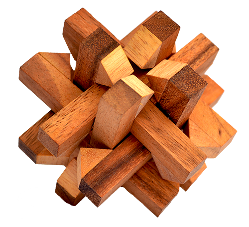 Thai Wooden Games And Puzzle