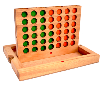 connect four, bingo and four in a row with wooden chips, strategy game 24,0 x 18,5 x 6 cm , connect four monkey pod bingo thai wooden games