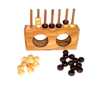 connect four, bingo with balls name four in a row with wooden chips, strategy game 16,0 x 10,0 x 6 cm , samanea wooden bingo , connect four monkey pod  thai wooden games